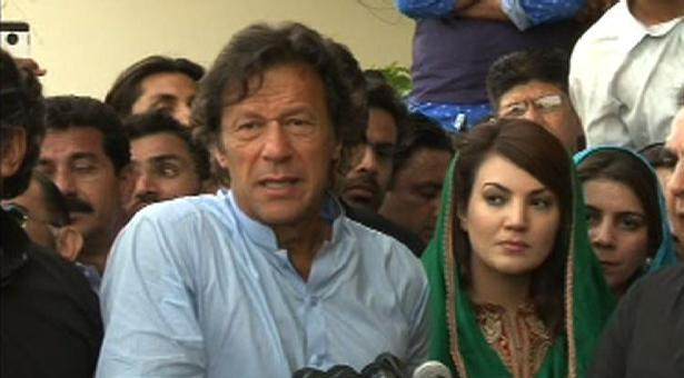 imran khan with reham khan